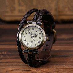 Retro Leather Women Wrist Watch