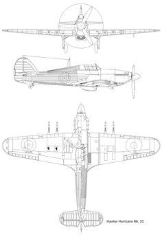 3 views of alot of planes. Hurricane Drawing, Russian Bombers, Bush Plane, Hawker Hurricane, Ww2 Aircraft, Aviation Art, Paint Schemes, Airplanes, Cutaway
