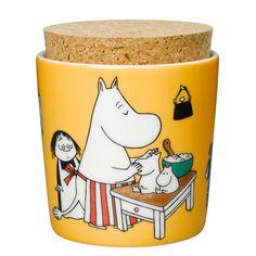 Moominmamma jar from Arabia by Tove Jansson,Tove Slotte-Elevant Moomin Shop, Moomin Mugs, Moomin Valley, Tove Jansson, Kitchenware, Tableware, Food Storage Containers, Small Storage, Kitchen Styling