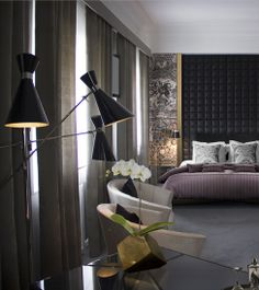 @Delightfull Unique Lamps lamps @Boca do Lobo suite, Hotel Infante de Sagres, one of the small luxury hotels of the world.  #lightingdesign #hyperluxurydesign