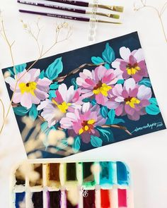 Watercolor Beginner, Gouache, Furniture Makeover, Flower Art, Journaling, Miniatures, Calligraphy, Oil, Illustrations