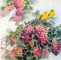 Li Ye Bo Paintings, Chinese Birds & Flowers Painting Artists ...