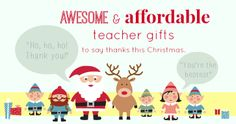 6 Affordable Teacher Christmas Gifts