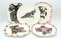 Five Vintage David Lambert Potteries Ltd Vancouver BC Native Dishes Signed | eBay