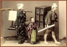 MOVING DAY -- A Domestic Scene in Old Japan by Okinawa Soba, via Flickr