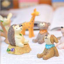 Hotsale Mini animales oso elefante mono de hadas miniatura garden gnome musgo botella de escritorio jardín arte de la resina de la decoración del hogar(China (Mainland))