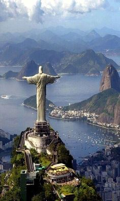 Cristo Redentor (Christ the Redeemer), Corcovado, Rio de Janeiro, Brazil Places Around The World, Oh The Places You'll Go, Travel Around The World, Places To Travel, Places To Visit, Around The Worlds, Travel Destinations, Travel Tips, Wonderful Places