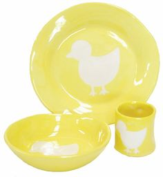 Yellow Duck Silhouette Ceramic Dish Collection   Jack and Jill Boutique