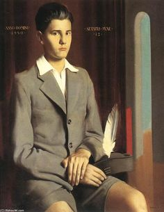 blastedheath: fakevintage: Béla Kontuly (Hungarian, Seated Boy, Oil on canvas. Private collection via Fairfield Porter, New Objectivity, Crisp White Shirt, Male Form, Life Drawing, Oil On Canvas, Appreciation, Mens Fashion, Men's Style