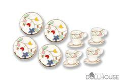 Miniature Dinner Set $14.50 #miniplates #miniteacups #minisaucers #miniatureaccessories Start shopping! missdollhouse.com