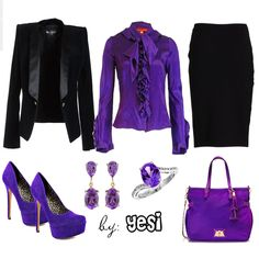 Purple outfit option 41. #purple #outfits #purpleoutfits #workoutfits #casual #fashion #jackets #handbags #accessories #shoes #clothes