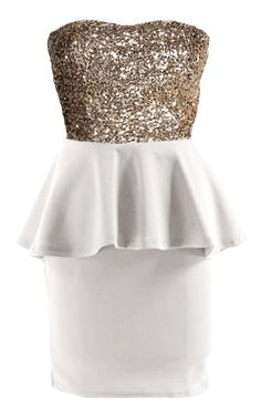 Platinum Peplum Dress