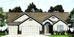 1295 sf Elevation of Traditional   House Plan 62611