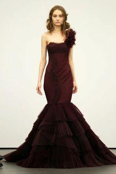 burgundy wedding dresses