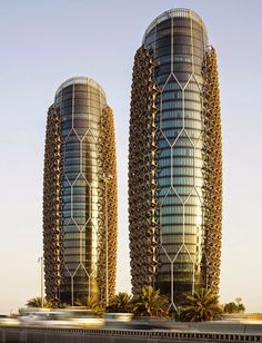 Abu Dhabi ( Al Bahr Towers ), United Arab Emirates Modern Architecture Design, Futuristic Architecture, Modern Buildings, Beautiful Architecture, Modern Design, Residential Architecture, Porch Interior, Wooden Screen Door, Lock Screen Backgrounds