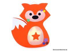 Fuchs Laterne für den Schneideplotter ♥ von kerstinbremer.de. So awesome! fox lantern ♥ #cutfile #svg #diy