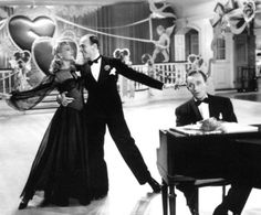 Fred Astaire, Bing Crosby, Marjorie Reynolds in Holiday Inn (Freeze frame of Fred being a shmutz.)