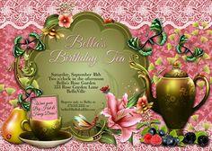 Birthday, Bridal Tea, Garden Tea Party and Tea Time Invitations by Bella LuElla    Find more Beautiful Tea Party invitations :