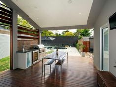 Outdoor living design with bbq area from a real Australian home - Outdoor Living photo 1000295 #OUTDOORKITCHEN #KITCHEN