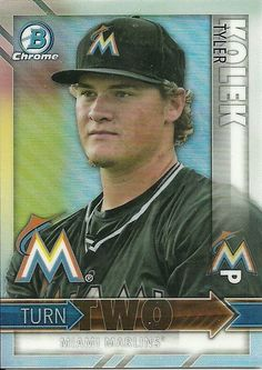 2016 BOWMAN CHROME TURN TWO TYLER KOLEK JOSH NAYLOR MARLINS 50 CENT SHIP #FloridaMarlins