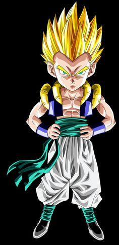 Gotenks ssj Dragon Ball Gt, 7th Dragon, Dbz Pictures, Goten E Trunks, Itachi, Anime Characters, Wallpaper, Manga Anime, Fan Art