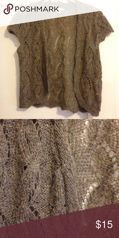 Sparkle sweater vest! Cute worn open or with a waist belt! Urban Outfitters Sweaters Cardigans