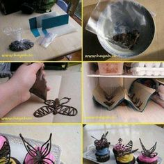 chocolate butterfly! OMG a great idea!!