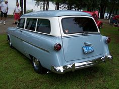 1954 FORD WAGON (1)  my first car was a Mercury Sable wagon in this color. I do love my wagons
