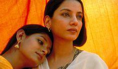 "Nandita Das and Shabana Azmi in ""Fire"" Nandita Das, Nova Deli, Bollywood Funny, Bollywood Quotes, Bollywood Celebrities, Amy, 9 Film, Loveless Marriage, Fire Movie"