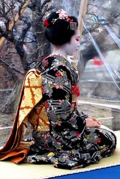 I love studying the geisha culture! Geisha Japan, Geisha Art, Japanese Geisha, Japanese Kimono, Japanese Art, Kabuki Costume, Tatoo Art, Cosplay Outfits, Japanese Culture