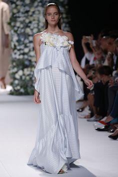 Duyos SS17 MBFW Fashion Made in Spain ff the shoulders stripes Foto: © Pablo Latorre/ L'Estrop