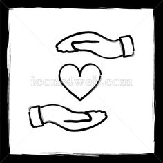 Outline design in high resolution and well suited for web or print use. Hands Holding Heart, Sketch Icon, Web Design Icon, Find Icons, Heart Sketch, Website Icons, Outline Designs, Thread Art, Heart