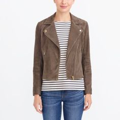 Crew Factory for the Suede motorcycle jacket for Women. Find the best selection of Women Outerwear available in-stores and online. Fall Jackets, Jackets For Women, Clothes For Women, Discount Mens Clothing, J Crew Style, Outerwear Women, Blazer Jacket, Moto Jacket, Kids Outfits