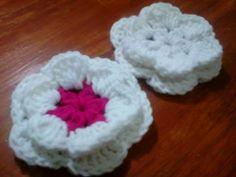 Flor de 2 capas de 6 petalos - Tutorial de tejido crochet !!!