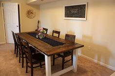 DIY farm table. We could do this w/wood from ReStore or Rebuilding Center. /via remodelaholic.com