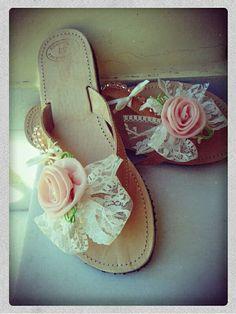 Romantic handmade sandals