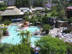 The old Neverland Pool at the Disneyland Hotel in Anaheim, CA. My Happy Place!