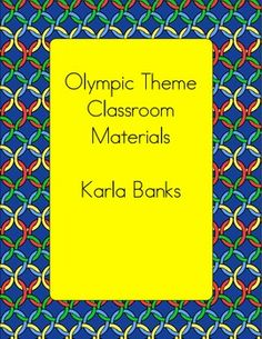 This file contains an olympic themed word wall, pocket chart calendar pieces, and blank signs/labels to help get your students ready for the big ga...