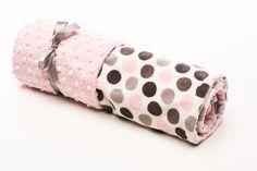 Baby Girl Jumbo Dot Pink Original Mimi Receiving Blanket by ElonkaNichole, $45.00 www.elonkanichole.com