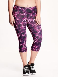 High-Rise Go-Dry Compression Plus-Size Capris