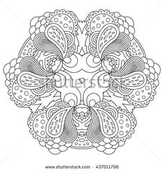 Vector Template For Decorating Greeting Cards Wedding Invitations Coloring