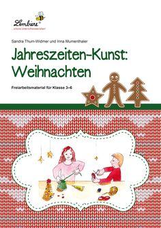 """Die Vorweihnachtszeit ist für viele Kinder die schönste Zeit des Jahres. Diese """"besinnliche"""" Zeit lässt sich sehr gut im Kunstunterricht widerspiegeln. Unser Material bietet abwechslungsreiche auf Weihnachten abgestimmte Angebote, die es den Kindern ermöglichen, ihre weihnachtliche Vorfreude beim Malen, Zeichnen, Gestalten, Drucken und Basteln auszuleben und kleine Kunstwerke zu erschaffen. #Lernbiene #Grundschule #Unterrichtsmaterial #Kunst #Weihnachten"""