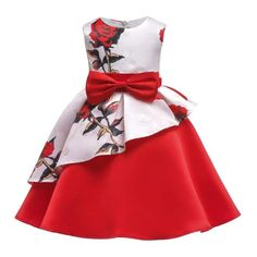 European and American Summer Girl Dress Print Children's Princess Dress Party Formal Dress Girl Baby A-line Full Dress With Bow Kids Pageant Dresses, Girls Formal Dresses, Toddler Girl Dresses, Princess Dress Kids, Princess Ball Gowns, Baby Princess, Princess Clothes, Princess Dresses, Princess Party