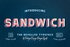 Sandwich Bevelled 3D Type on Creative Market