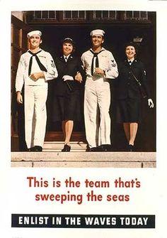 Women in the United States Navy Us Navy Recruiting, Navy Chief, Brave Women, United States Navy, Second World, Women In History, Marine Corps, World War Ii, Wwii