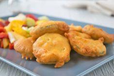 Frittierte Zucchini - Rezept Cooking Recipes, Snacks, Meat, Deep Frying, Deep Fried Zucchini, Zucchini Cobbler, Vegetarian Recipes, Appetizers, Chef Recipes