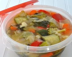 Weight Watchers Fresh Vegetable Soup © A Veggie Venture.  ZERO POINTS!!!