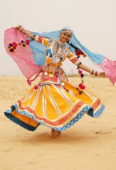 A Kalbelia folk dance from the Kalbelia tribe in Rajasthan, India