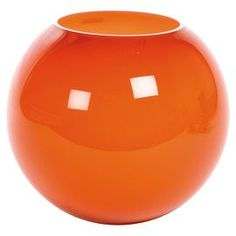"Add a splash of citrus to your living room or bedroom with this spring-ready vase.  Product: VaseConstruction Material: GlassColor: OrangeDimensions: 10.5"" H x 6.25"" Diameter"