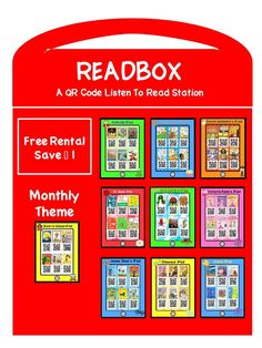 This READBOX is a great listen to read station to use during Daily 5. There are 126 read alouds total. Each theme or author includes six books each. Students will need a smart device with a QR Code reader downloaded on it. The students will scan the QR Code, push play, and listen to their favorite read aloud.